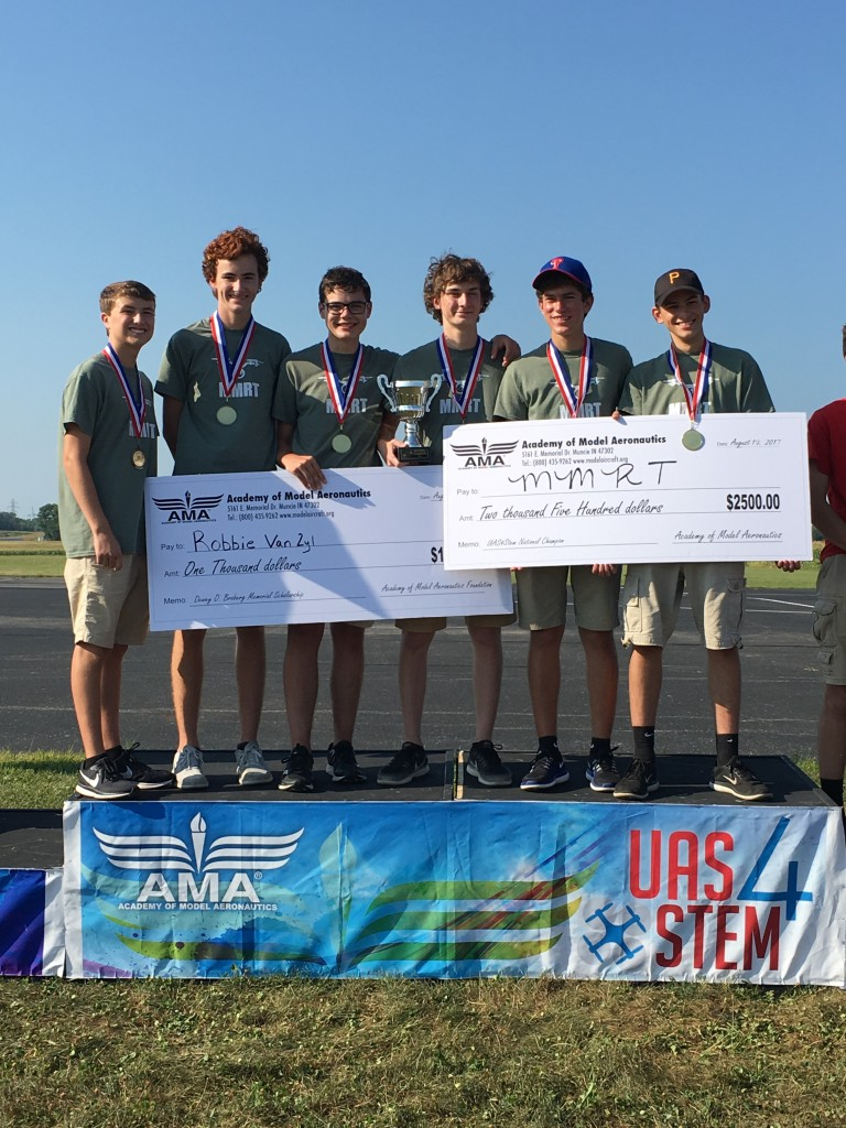 MMRT, first-place winners of the 2017 UAS4STEM national competition.
