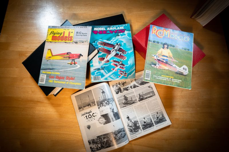 4 different magazines showing coverage of the 1982 Tournament of CHampions. All are displayed on a wood table.