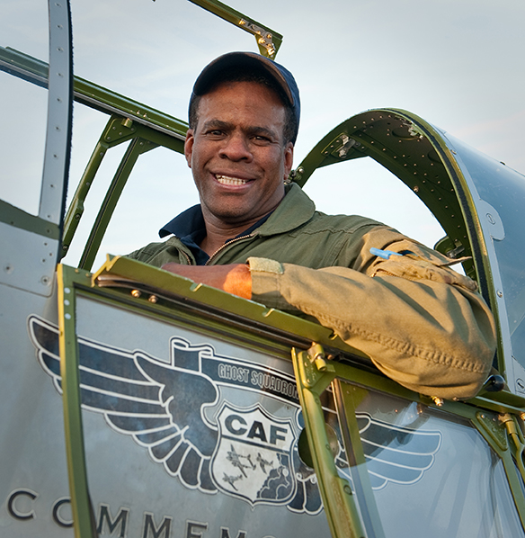 AMA member Brad Land in the CAF RedTail squadron P-51C