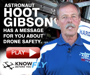 Astronaut Hoot Gibson Has a Message for you about Drone Safety.