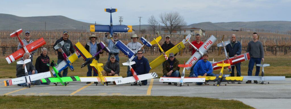 Some of the members from the Yakima Valley Aero Modelers